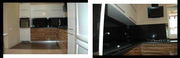 Meble kuchenne w połysku na wymiar. Fronty lakierowane oraz akrylowe.